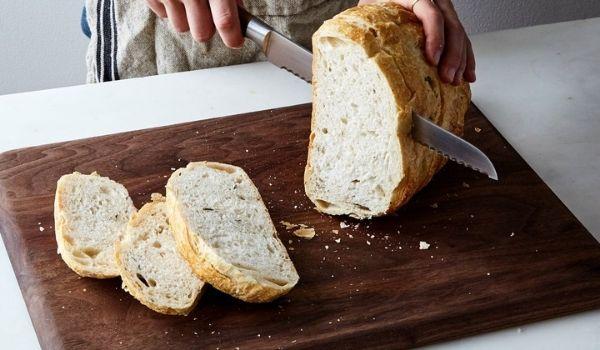 Slicing Baguettes Bread
